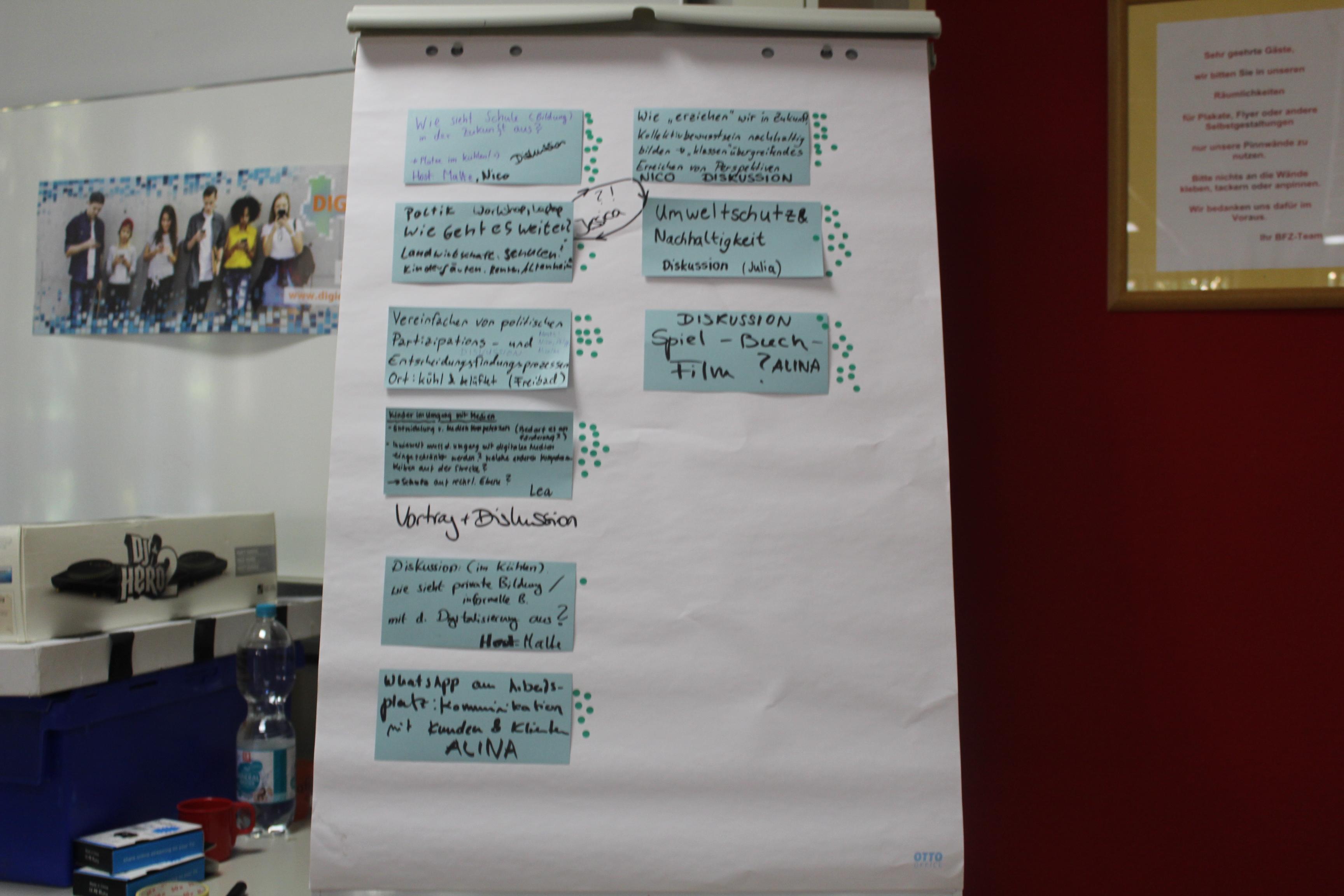 Am Ende stehen Vorschläge für 9 Barcamps.