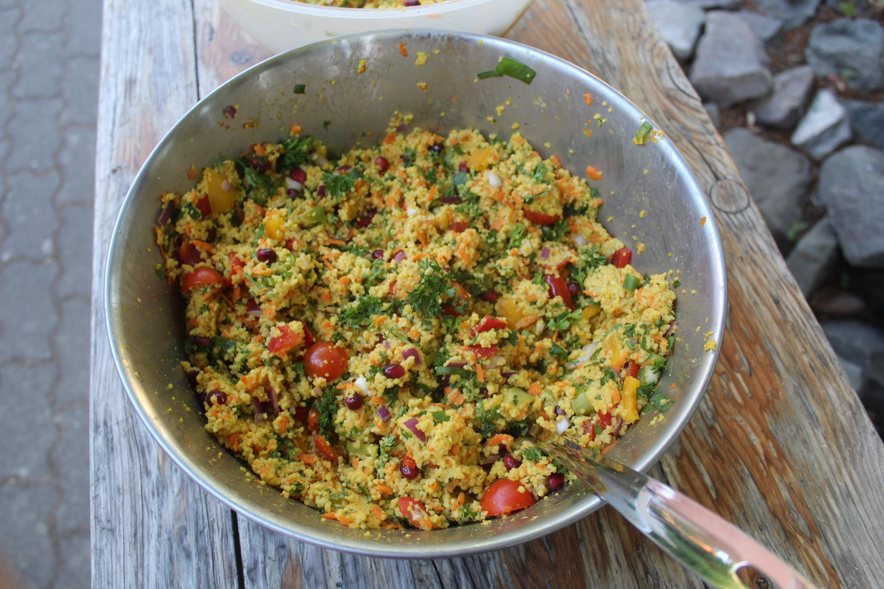 Unser kleines Meisterwerk: Ein Couscous-Salat.