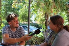 Die ganze Woche über waren verschiedene Medien bei uns und interviewten Jule.