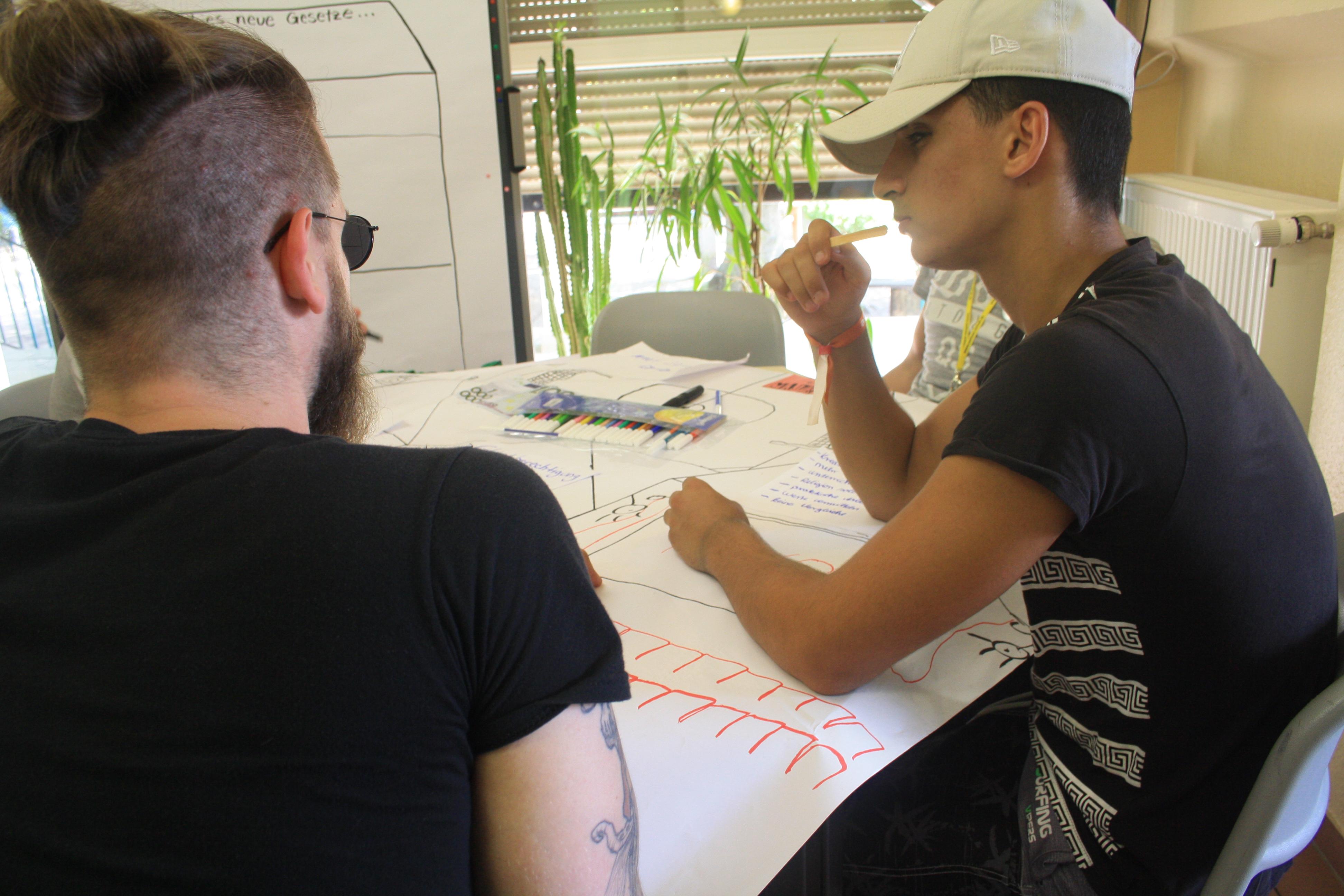 In der Zukunftswerkstatt wurde an Ideen für die Schule gearbeitet.